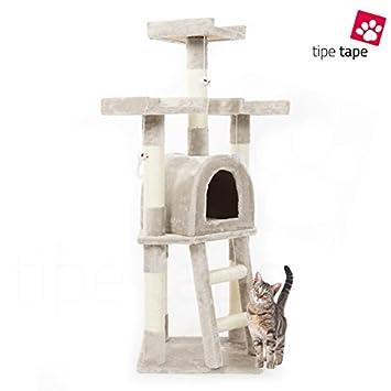 Rascador con cesto para gatos - Parque de juegos para gatos, 115 cm, gris: Amazon.es: Bricolaje y herramientas