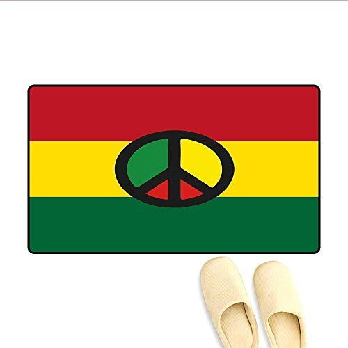 Printing Obama Cover - Doormat Reggae Culture Peace Symbol Caribbean Country Flag Design Americas Rasta Culture Bath Mat 3D Digital Printing Mat Multicolor 16