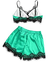 3880477f18e07 OrchidAmor Women Girls Soft Plus Size Soft Plus Size Eyelash Lace Lingerie  Bodydoll V-Neck