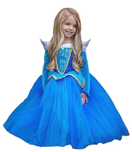 Eyekepper Sleeping Beauty Aurora Costume Birthday Party Dress up 130cm