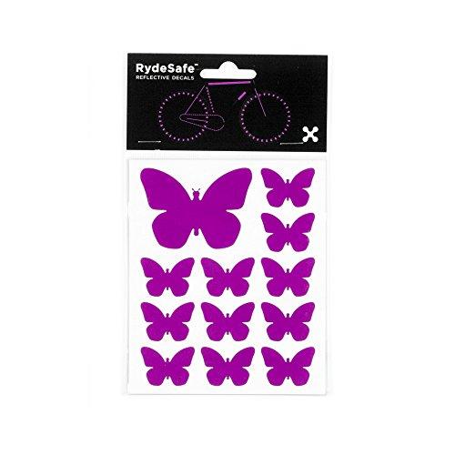RydeSafe Reflective Decals - Butterflies Kit (Violet)