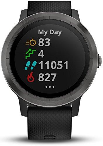 Garmin Vivoactive 3 - Smartwatch con GPS y Pulso en la muñeca, Negro (Gunmetal), M/L (Reacondicionado)