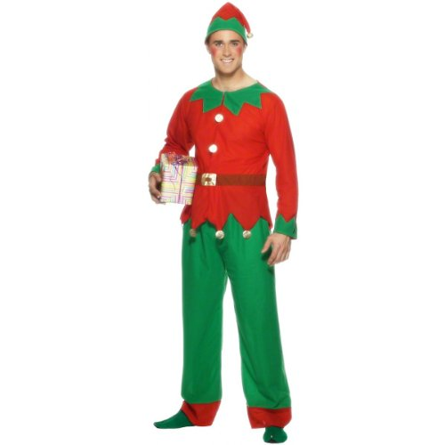 Uk Costume Elf (Elf Adult Costume - Medium)