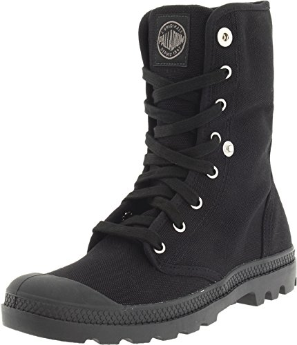 Palladium Women's Baggy Canvas Boots, Black, 6 B(M) US