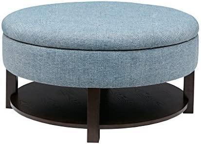 Madison Park Ottoman See Below Denim Morrocco