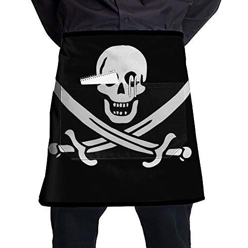 GHDSKH Danger Pirate.jpg Waist Aprons Commercial Restaurant Home Bib Spun Poly Polyester Kitchen for Unisex