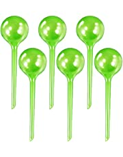 6 Pcs Plant Watering Globes, 5cm/2inch Automatic Self Watering Bulbs, Plant Imitation Glass Houseplant PVC Pot Bulbs, Garden Watering System Irrigation Drippers - Green
