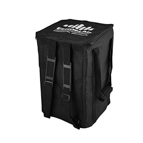Echoslap Cajon Gig Bag Backpack, Black Nylon, Carrying Handles & Shoulder ()