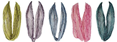 6 pieces Snake Skin Print Infinity loop Fashion Scarf (TH03N_6_1)