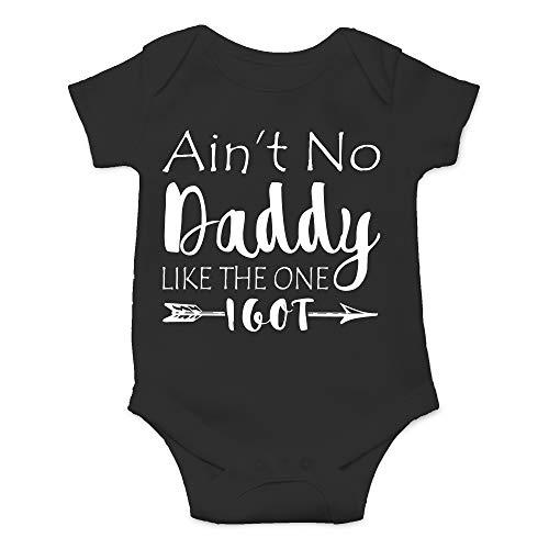 CBTwear Ain't No Daddy Like The One I Got - Gangster Parody - Cute Infant One-Piece Baby Bodysuit (12 Months, Black) - Like Onesie Baby
