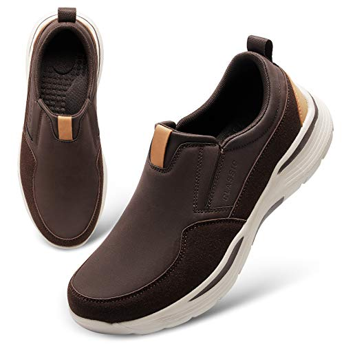 JOINFREE Men's Slip-On Loafer Comfort Walking Shoes Casual Driving Trainers