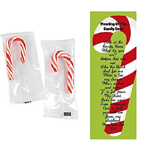 Meaning Of The Candy Cane Bookmarks with Mini Candy Canes 100 Pack