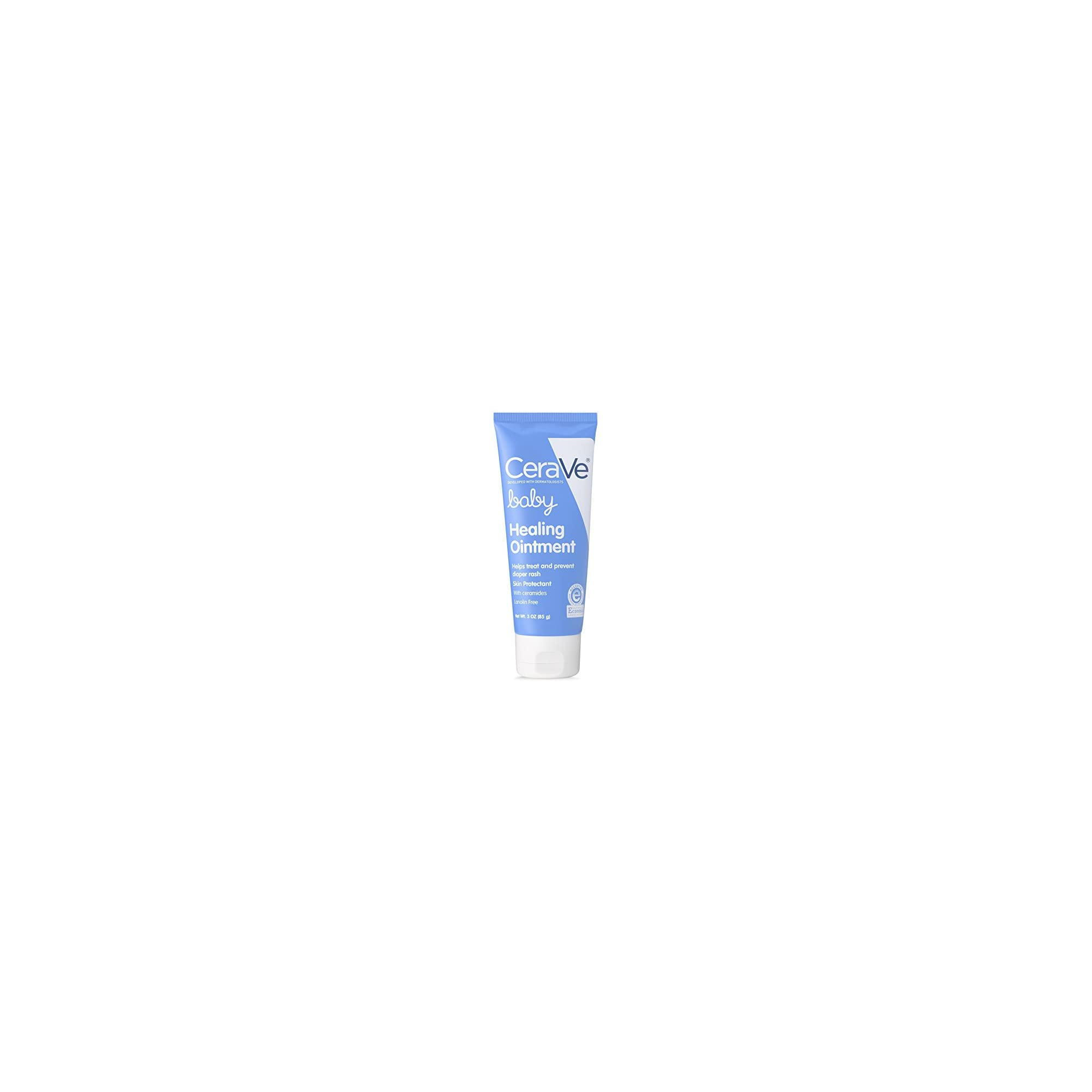 CeraVe Healing Ointment for Baby   3 Ounce   Diaper Rash Cream and Cracked Skin Repair   Lanolin & Fragrance Free