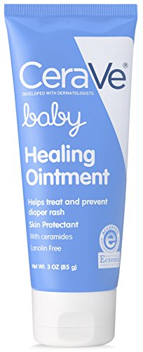 CeraVe Healing Ointment for Baby | 3 Ounce | Diaper Rash Cream and Cracked Skin Repair | Lanolin & Fragrance Free