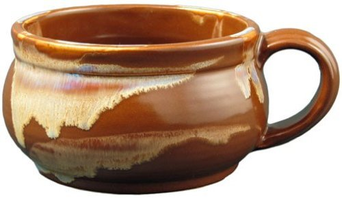 Set of (2) Two - PRADO STONEWARE COLLECTION - Stacking/Stackable Soup, Chili, Stews Cups/Mugs / Bowls - Chocolate Brown