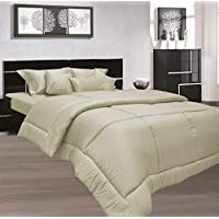 Stone King Size 260 x 280 cm Hotel Linen Bedding Set - 3 Pieces
