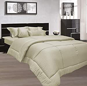Stone Queen Size 180 x 200 + 30 cm Hotel Linen Fitted Bed Sheet