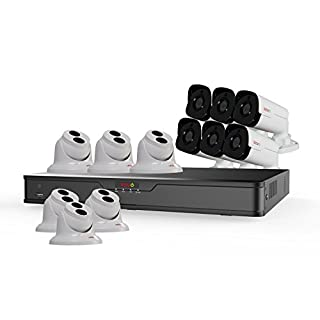 Revo America Ultra 16Ch. 4TB HDD 4K IP NVR Security System - Fixed Lens IP Cameras 6 x 4MP Audio Bullet Cameras & 6 x 4MP Turret Cameras - Remote Access via Smart Phone, Tablet, PC & MAC (B01MV84QSF) | Amazon price tracker / tracking, Amazon price history charts, Amazon price watches, Amazon price drop alerts