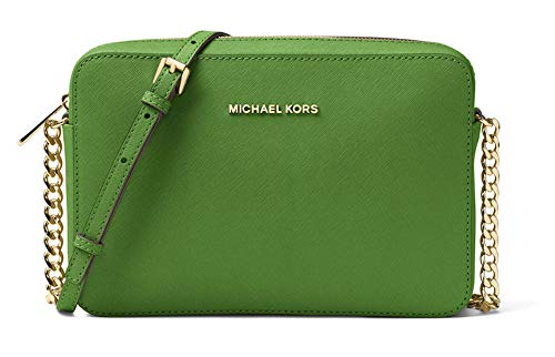 MICHAEL Michael Kors Women's Large East/West Cross Body Bag (True Green) East West Satchel Bag