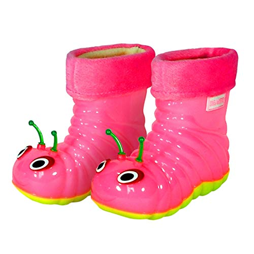 Children's Waterproof Rain Boots Cartoon Animals Toddler/Little Kid (6 M US Toddler), Pink