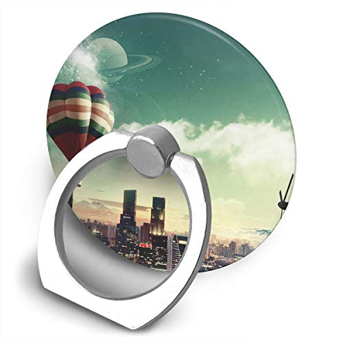 Cell Phone Finger Ring Holder Hot Air Balloons City 360 Degree Rotating Stand Grip Mount Phone Bracket for $<!--$7.60-->