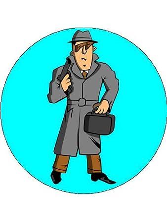 7 5 Cartoon Spy Special Agent Private Detective Birthday
