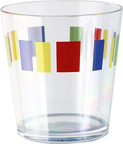 Memphis Glass - Corelle Coordinates Memphis Acrylic Rock Glasses, 14-Ounce, Set of 6