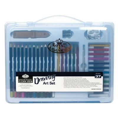 Clear View Large Art Case Drawing Set (Product Catalog: Writing & Drawing Mediums)