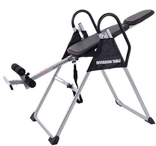 K&A Company Foldable Pu Premium Gravity Inversion Table Back Therapy Reflexology Fitness Gym Modern