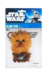 Joy Toy 100261 - Star Wars llavero con peluche parlante Chewbacca en expositor (10cm) - Star Wars - Llavero - Chewbacca Peluche con sonido