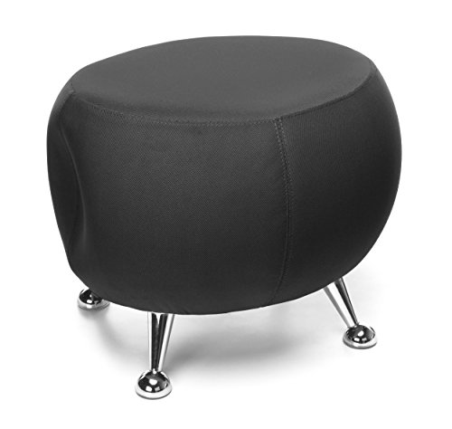OFM Jupiter Series Fabric Ball Stool, in Black (Stores Jupiter Furniture)