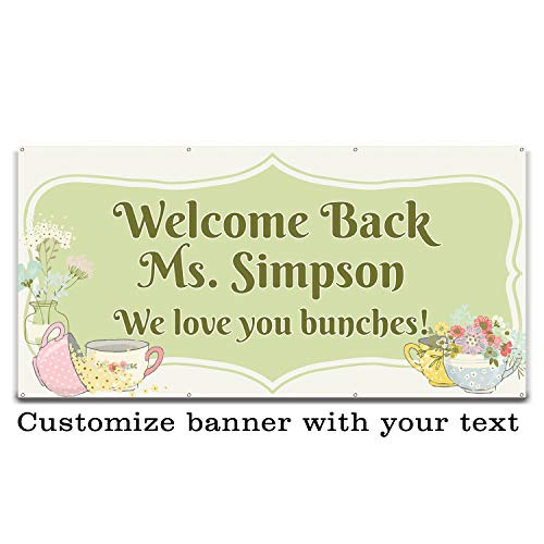 Buttonsmith Sweet Tea Birthday Custom Vinyl Banner 3'x6' - Indoor/Outdoor - Personalize with Your Text - Designed, Printed, and Assembled in USA]()