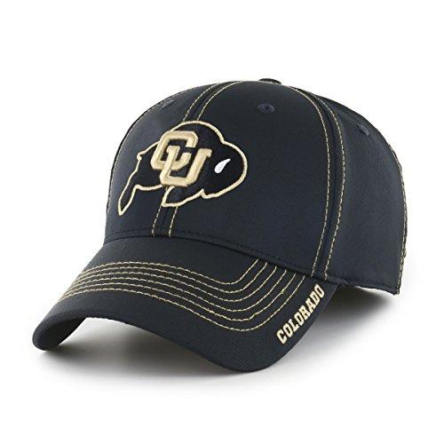NCAA Colorado Buffaloes Adult Start Line Ots Center Stretch Fit Hat, Medium/Large, Black (Baseball Colorado Buffaloes)