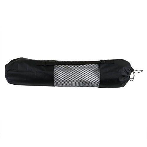 Price comparison product image angju 1pc Yoga Mat Bag Exercise Fitness Carrier Nylon Mesh Center Adjustable Strap Pilates