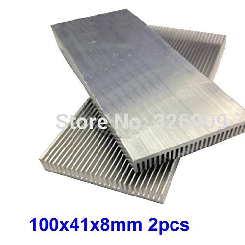 Rarido 2pcs 300mm 100mm 100x41x8mm Extruded Aluminum heatsink IC Chip VGA Memory Routers Northbridge Southbridge CMOS Radiator - (Blade Color: Length 100mm)
