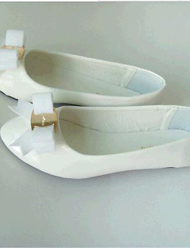 PDX/ Damenschuhe-Ballerinas-Outddor / Lässig-Kunstleder-Flacher Absatz-Komfort-Schwarz / Weiß white-us5.5 / eu36 / uk3.5 / cn35