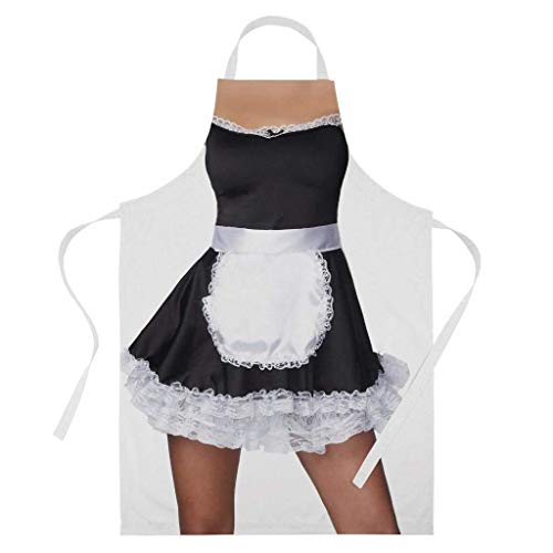 Ashasds Band Tidy Clothing Sexy French Maid Costume Funny Valentine BBQ Cooking Baking Apron ()