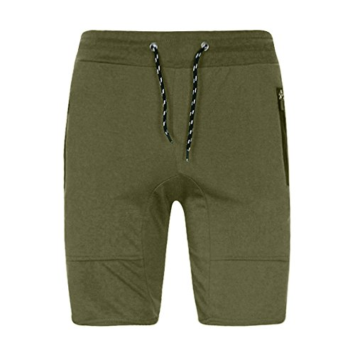 YOcheerful Men Shorts Trunks Sport Gym Jogging Pants Trousers Sweatpants (Army Green,S)