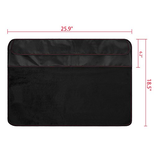 Lightning Power - PU Leather Protective Screen Dust Cover Sleeve with rear pocket for Apple IMAC 27 slim A1419 (27'' with pocket, Black PU Leather) by Lightning Power (Image #4)