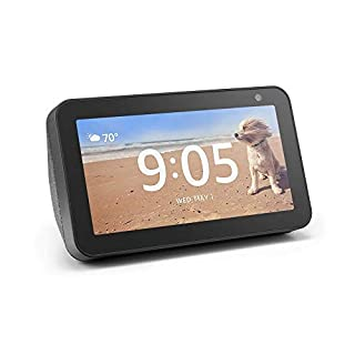 Echo Show 5 (Charcoal) Bundle with Senged 2-pack smart bulb starter kit