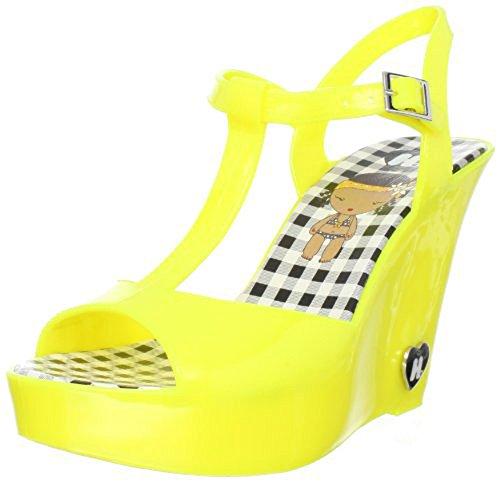 Harajuku Lovers Women's Quin T-Strap Sandal,Yellow,7 M US