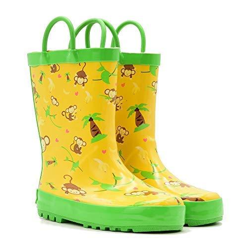 Mucky Wear Children's Rubber Rain Boot, Monkeys, 8T US Toddler (Toddler Monkey Rain Boots)