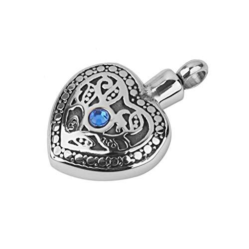 (Heart Shape Cremation Ash Keepsake Urn Ash Holder Pendant DIY Decor Necklace Jewelry Crafting Key Chain Bracelet Pendants Accessories Best  Pattern - 5)