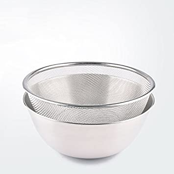 Amazon.com: Kitchen Stainless Steel Mixing Bowls Colander Set ...