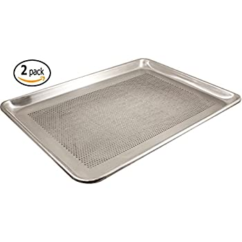 Amazon Com Aluminum Half Size Perforated Baking Sheet