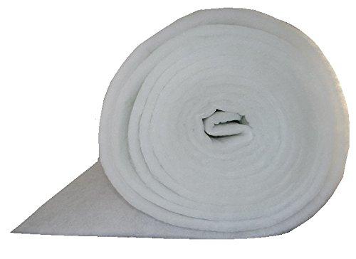 G4 Filtermatte EU4 ca. 1 x 20 m Stärke ca. 18mm ca. 220g/m² Ersatzfiltervlies zum selbst zuschneiden Lüftungsanlage Wohnraumbelüftung Kompressoren Badlüfter Sauger Klima Lüftung Wärmerückgewinnungsanlagen