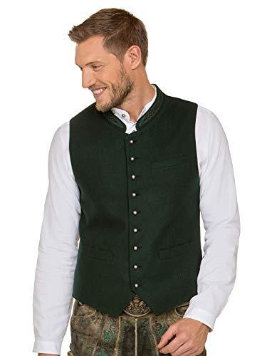 (Stockerpoint Traditional Waistcoat Gilet Levon Green, 50)