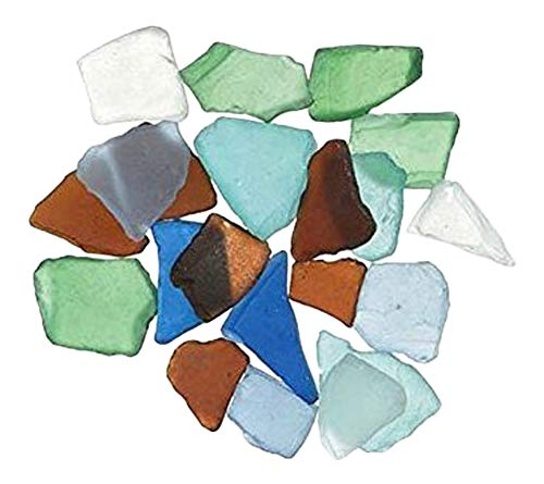 Darice Bulk Buy DIY Sea Glass inch Mesh Bag Multicolor Rainbow Mix 1lb (3-Pack) 1140-67