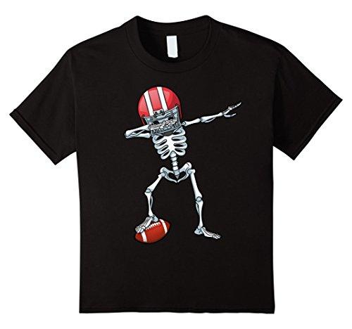 8 Ball Costumes (Kids Dabbing Skeleton Football Halloween T Shirt Costume Gifts 8 Black)