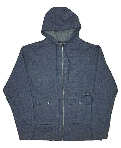 O'NEILL Men's Full-Zip Hooded Fleece Jacket (Navy, XL)